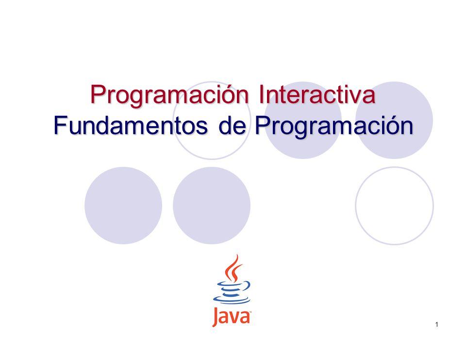 1 Programación Interactiva Fundamentos de Programación
