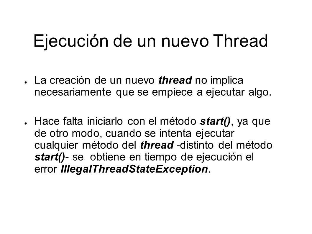Bloque Temporal de un Thread Ejecutando el método sleep() de la clase Thread.
