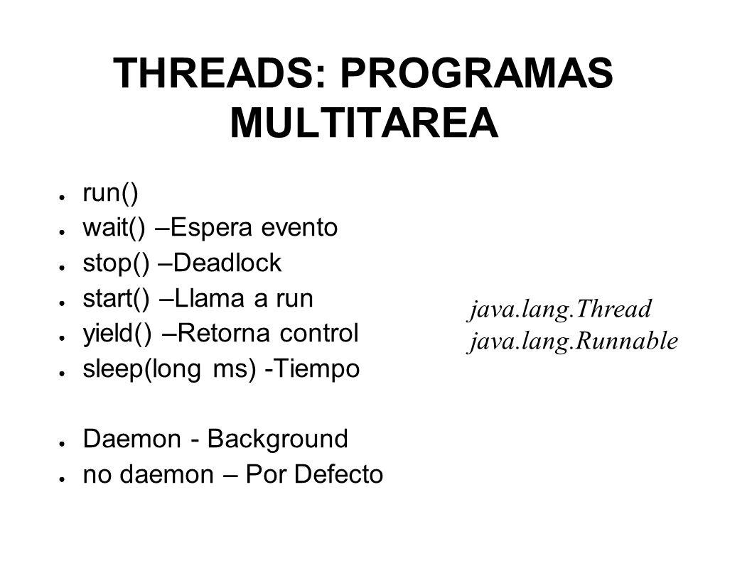 CREACIÓN DE THREADS En Java hay dos formas de crear nuevos threads.