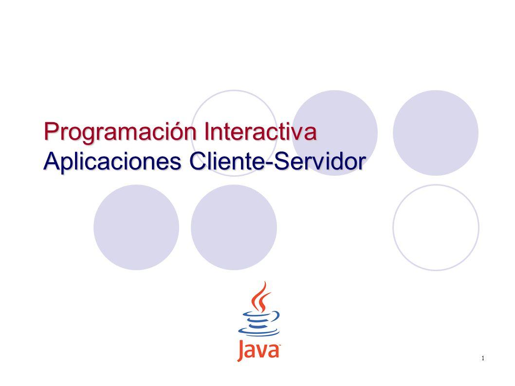 1 Programación Interactiva Aplicaciones Cliente-Servidor