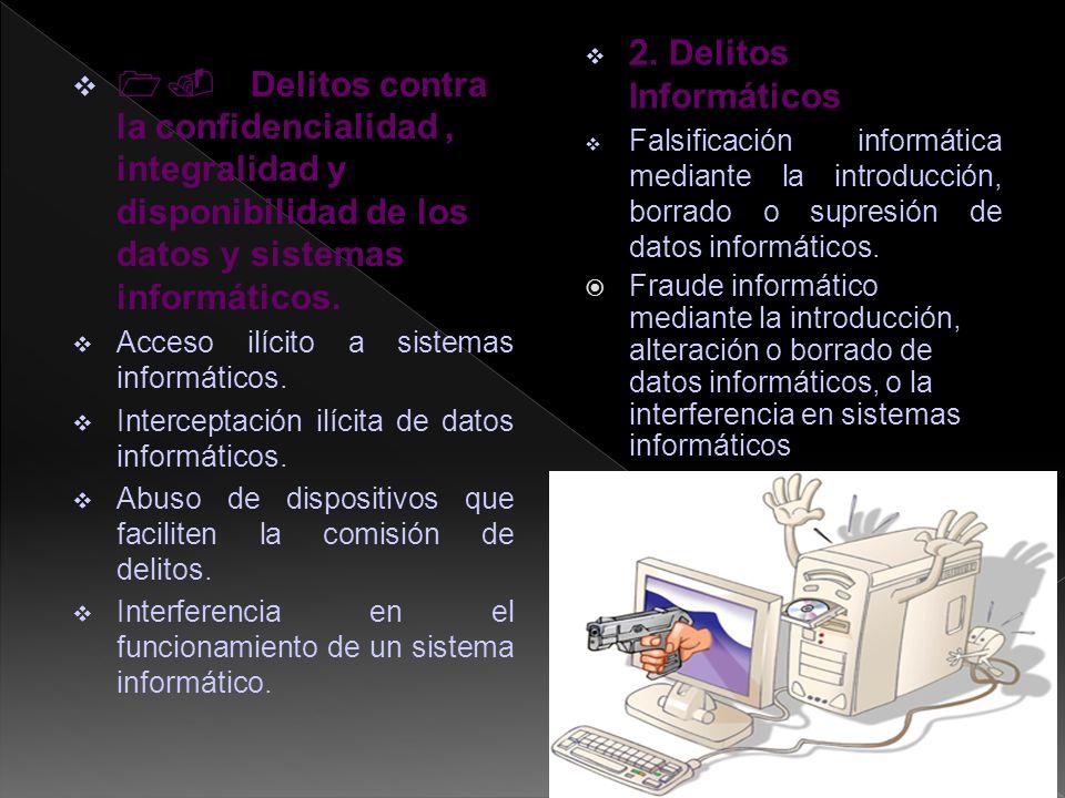 1. Delitos contra la confidencialidad, integralidad y disponibilidad de los datos y sistemas informáticos. Acceso ilícito a sistemas informáticos. Int