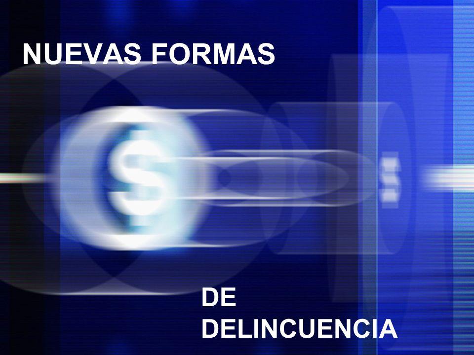 12 NUEVAS FORMAS DE DELINCUENCIA