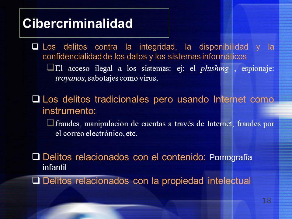 18 Cibercriminalidad Los delitos contra la integridad, la disponibilidad y la confidencialidad de los datos y los sistemas informáticos: El acceso ile
