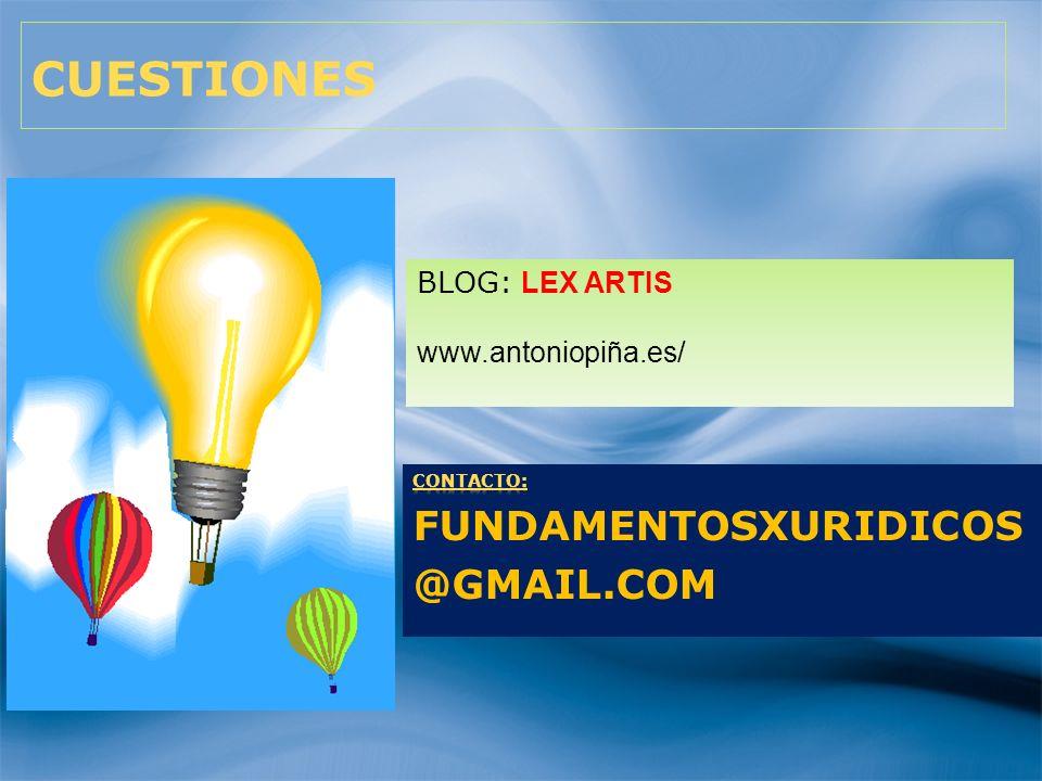 80 CUESTIONES BLOG: LEX ARTIS www.antoniopiña.es/