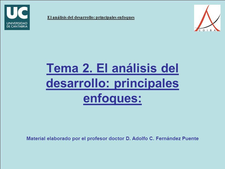 El análisis del desarrollo: principales enfoques Tema 2.