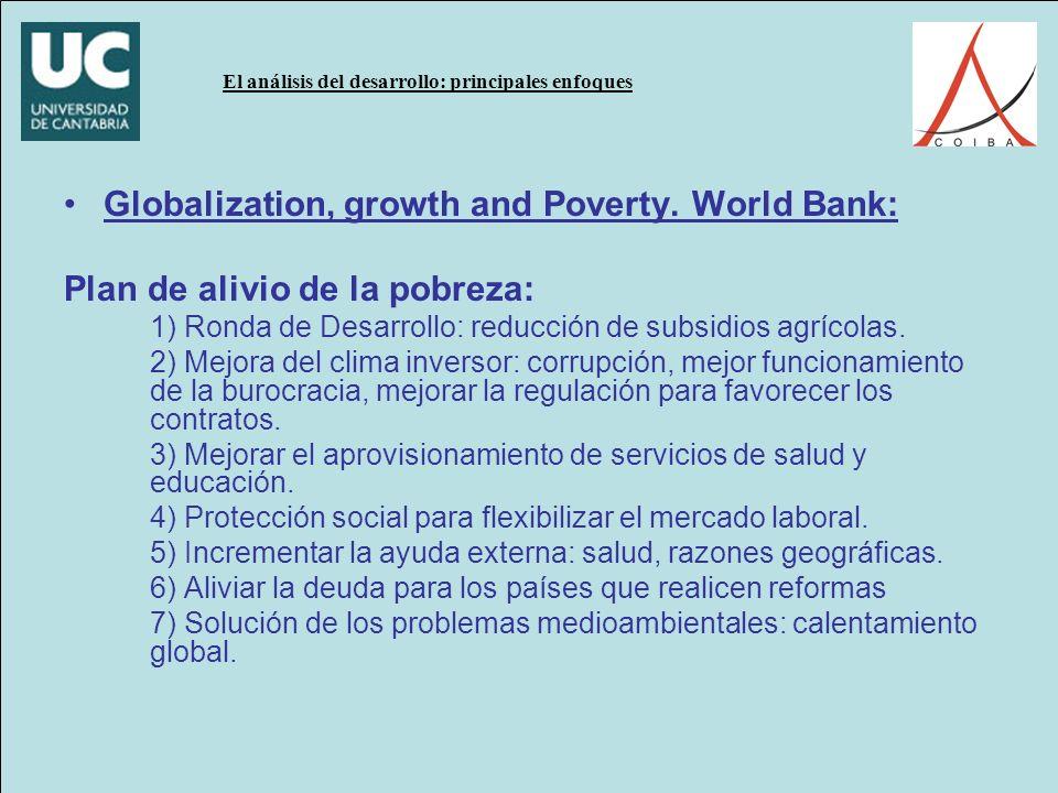 El análisis del desarrollo: principales enfoques Globalization, growth and Poverty.