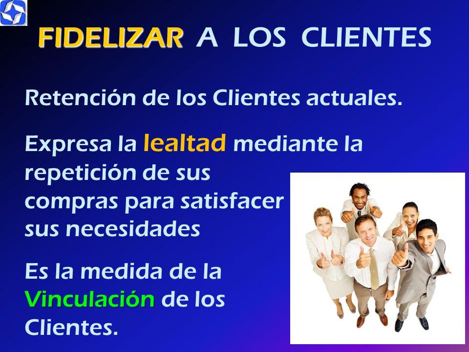 IMPORTANCIA DE S-A-C Elemento decisivo de promoción para las ventas, como descuentos, publicidad, ofertas seis veces más costoso Atraer un nuevo Clien