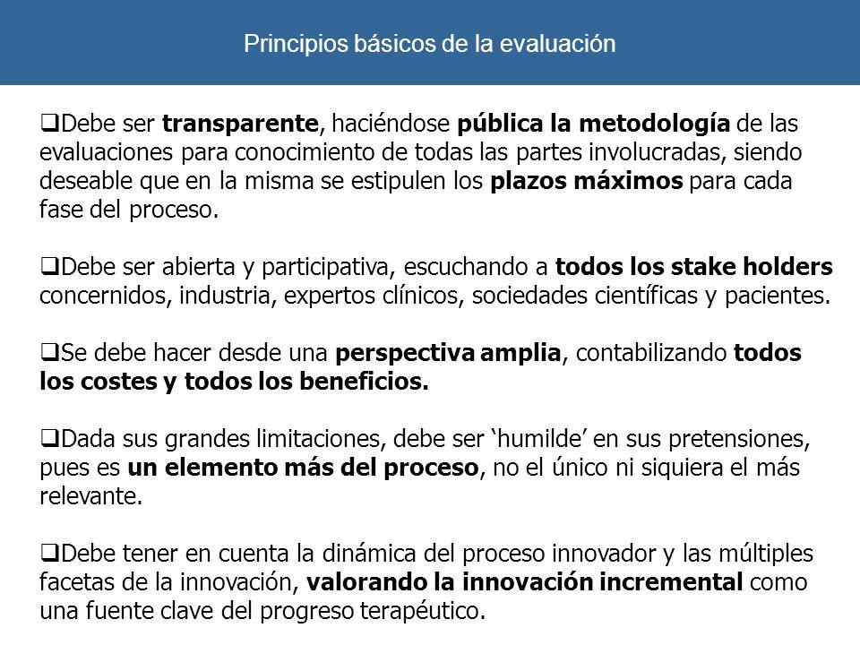 Debe ser transparente, haciéndose pública la metodología de las evaluaciones para conocimiento de todas las partes involucradas, siendo deseable que e