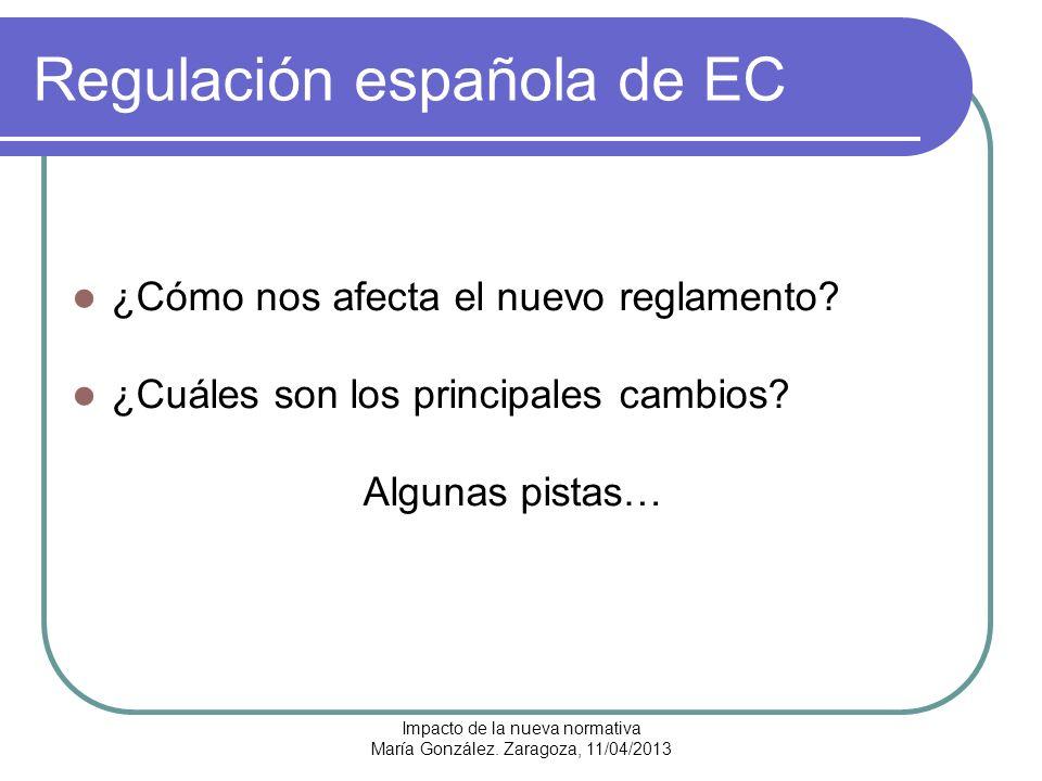 Impacto de la nueva normativa María González.