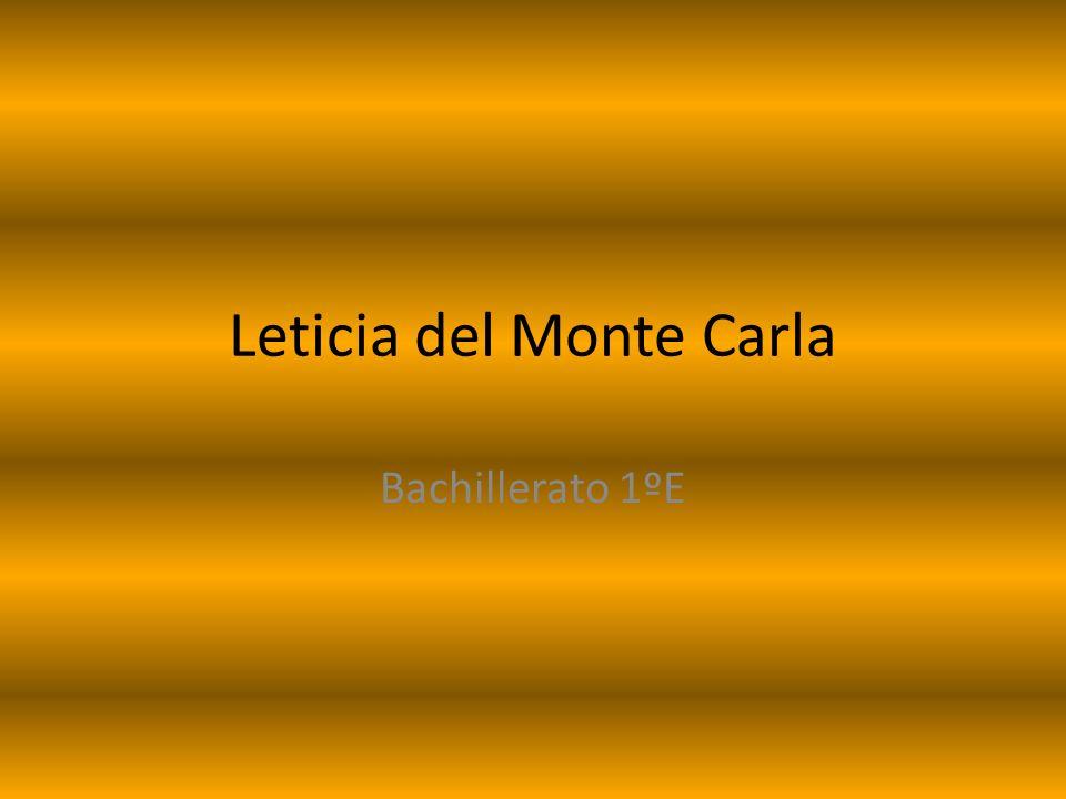 Leticia del Monte Carla Bachillerato 1ºE