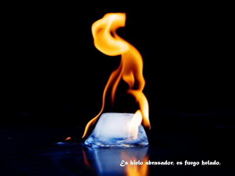 Es hielo abrasador, es fuego helado,