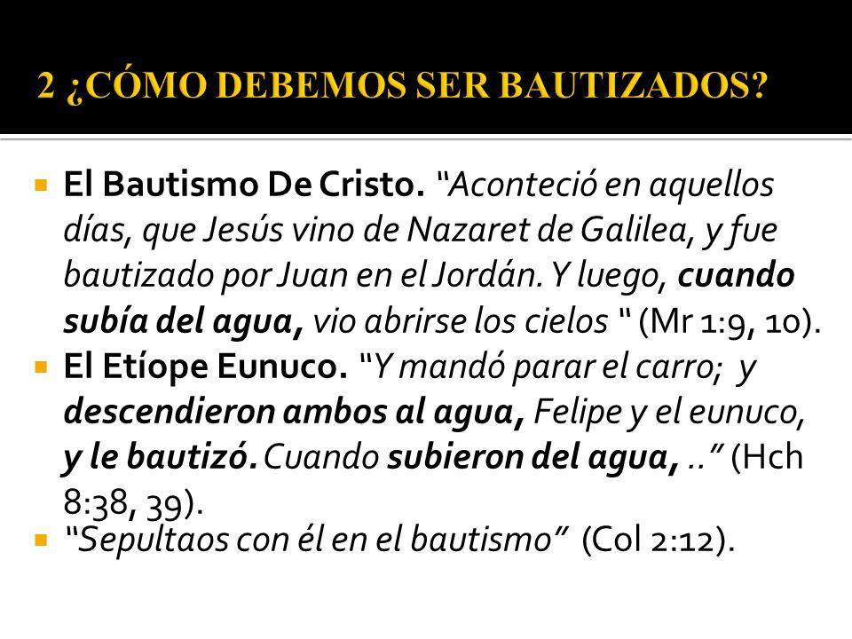 El Bautismo De Cristo. Aconteció en aquellos días, que Jesús vino de Nazaret de Galilea, y fue bautizado por Juan en el Jordán. Y luego, cuando subía