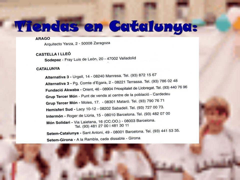 Tiendas en Catalunya: