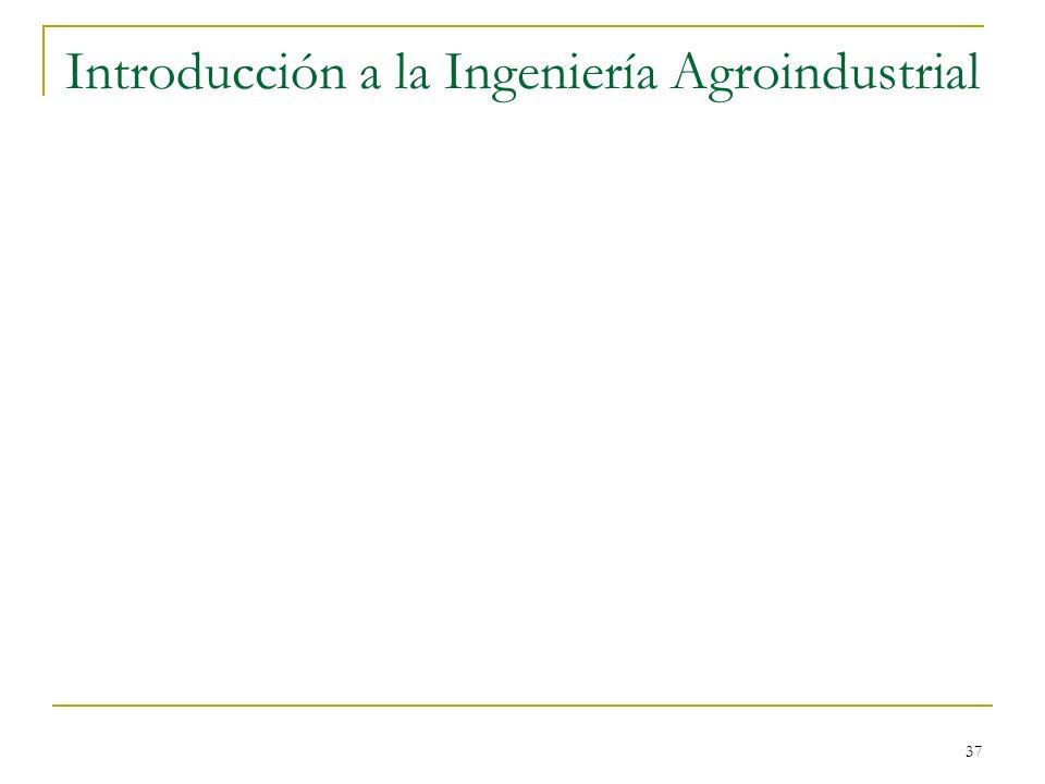 37 Introducción a la Ingeniería Agroindustrial