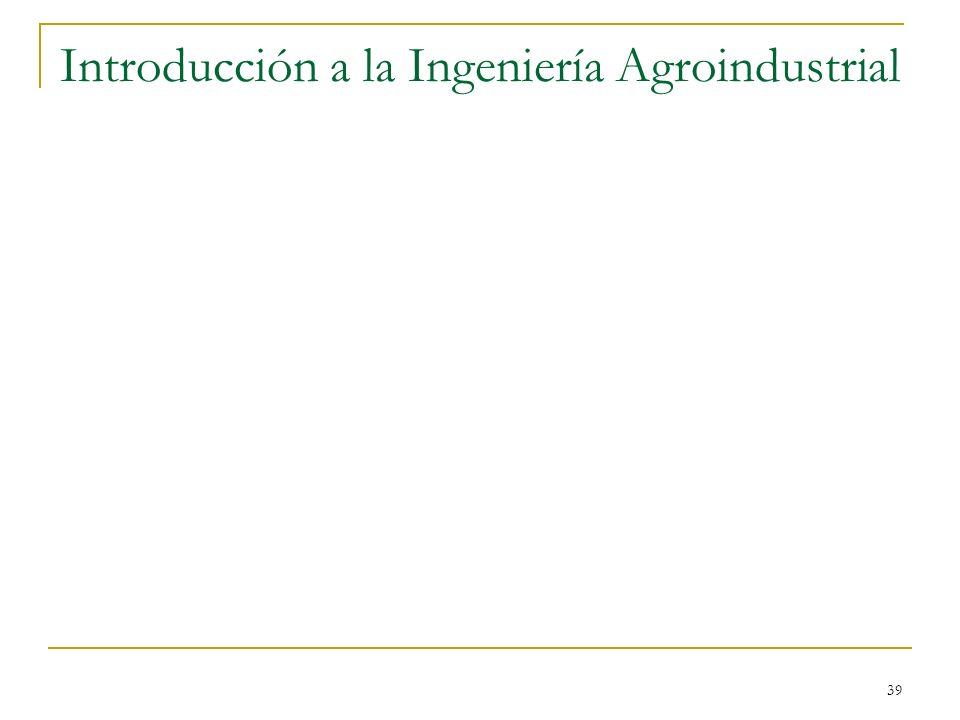 39 Introducción a la Ingeniería Agroindustrial