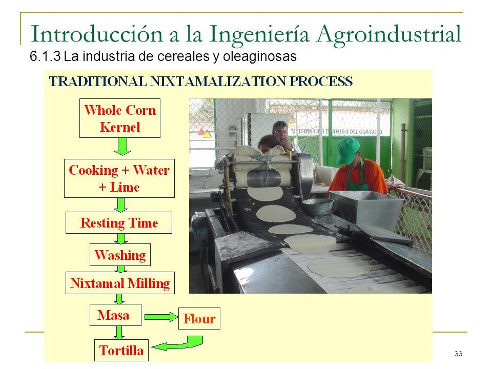 33 Introducción a la Ingeniería Agroindustrial 6.1.3 La industria de cereales y oleaginosas
