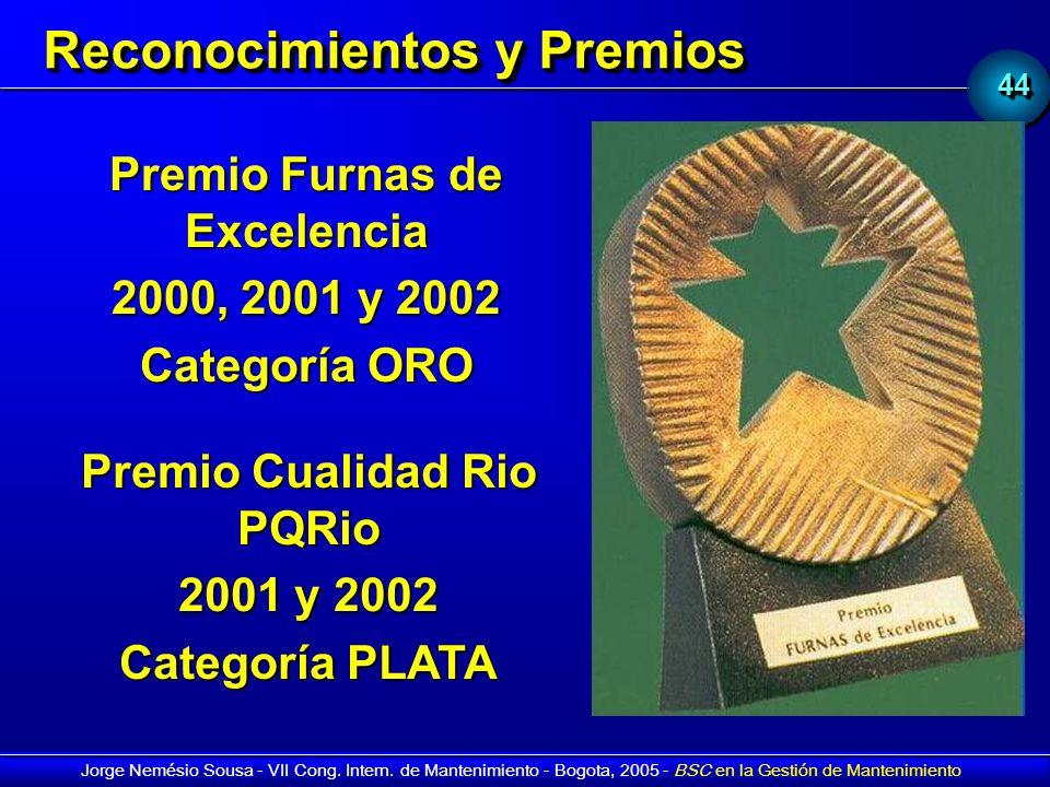 4444 Jorge Nemésio Sousa - VII Cong. Intern. de Mantenimiento - Bogota, 2005 - BSC en la Gestión de Mantenimiento Premio Furnas de Excelencia 2000, 20