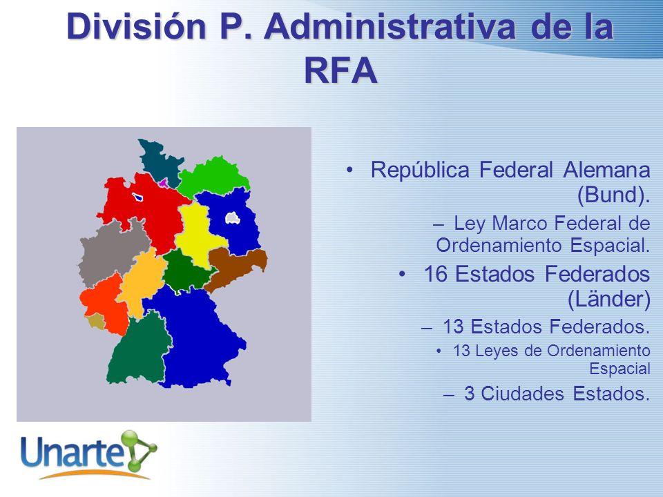 División P.Administrativa de la RFA República Federal Alemana (Bund).