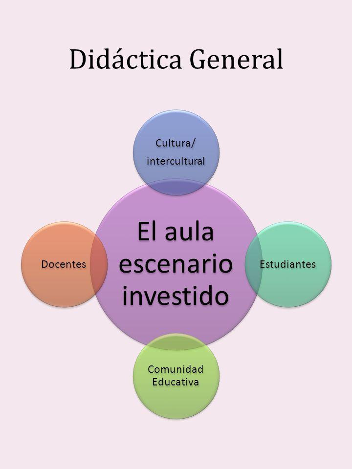 Didáctica General El aula escenario investido Cultura/ intercultural Estudiantes Comunidad Educativa Docentes
