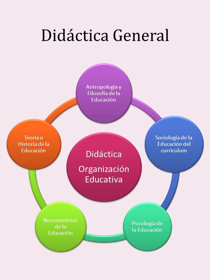 Didáctica General Didáctica Organizació n Educativa Antropología y Filosofía de la Educación Sociología de la Educación del curriculum Psicología de l