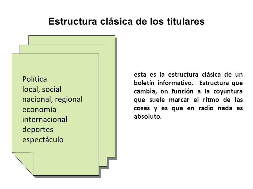 Política local, social nacional, regional economía internacional deportes espectáculo Política local, social nacional, regional economía internacional