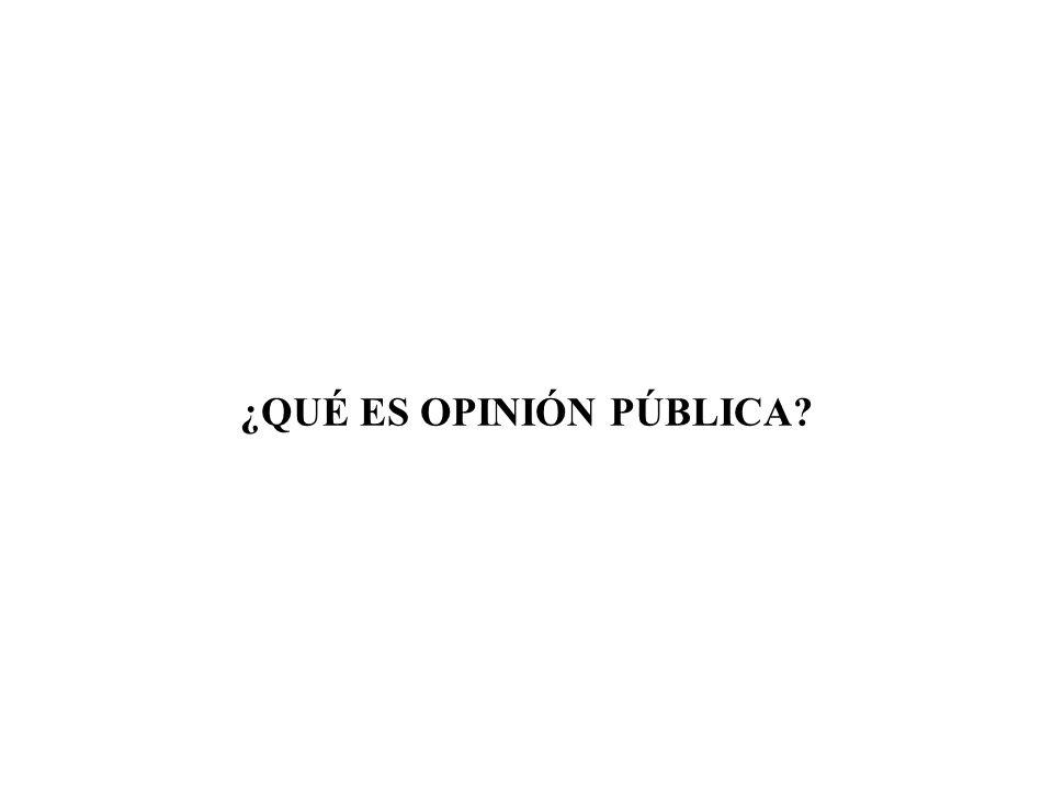 La opinión pública es la tendencia o preferencia, real o estimulada, de una sociedad hacia hechos sociales que le reporten interés.