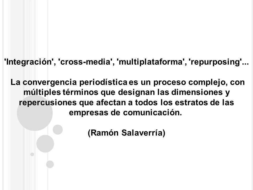 'Integración', 'cross-media', 'multiplataforma', 'repurposing'... La convergencia periodística es un proceso complejo, con múltiples términos que desi