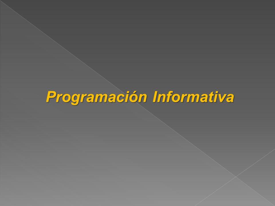 Programación Informativa Programación Informativa