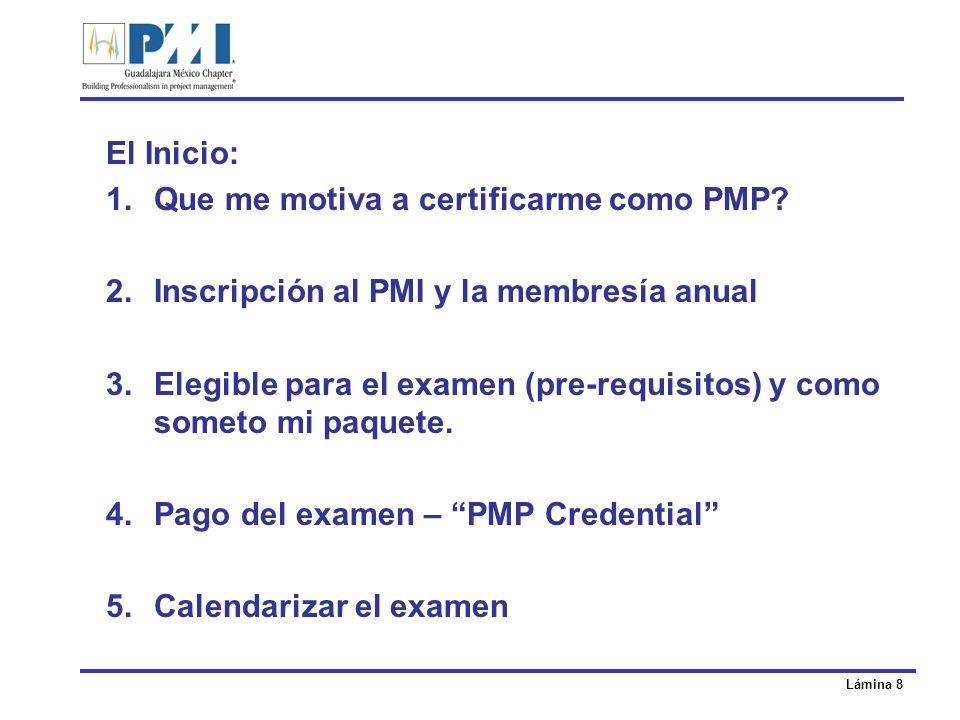 Lámina 9 Hoy decidí certificarme como PMP 1.