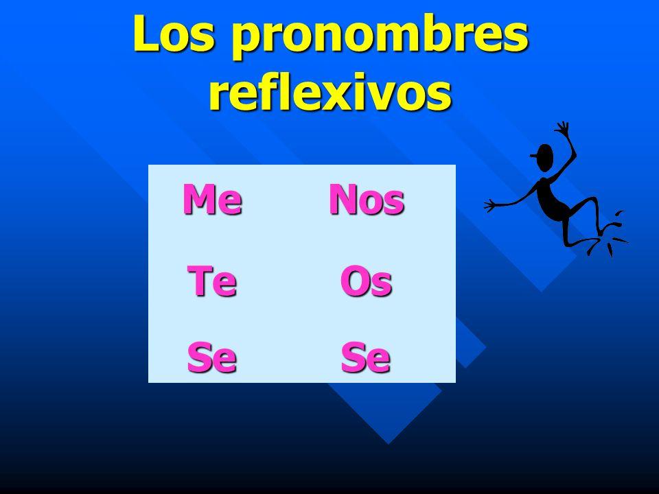 Los pronombres reflexivos MeNos TeOs SeSe