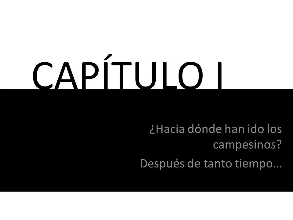 CAPÍTULO I ¿Hacia dónde han ido los campesinos? Después de tanto tiempo…