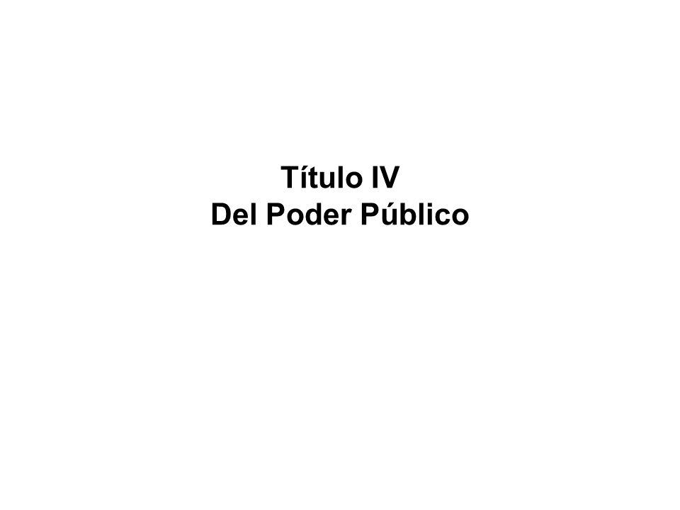 Título IV Del Poder Público