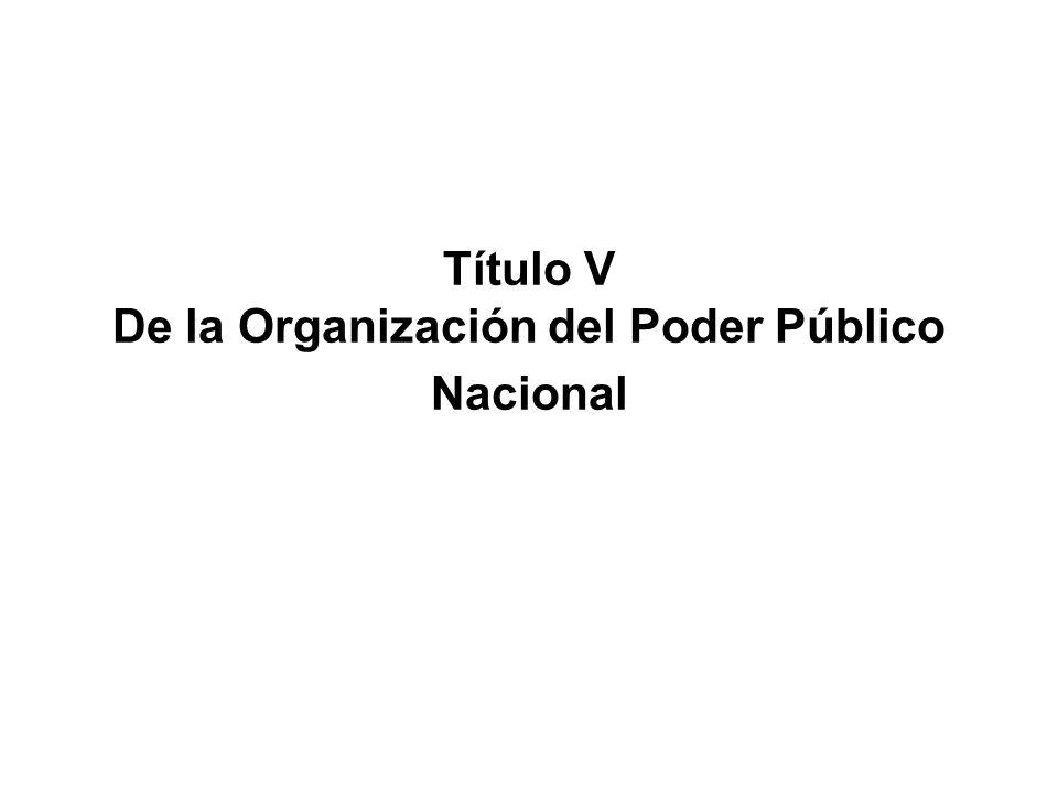 Título V De la Organización del Poder Público Nacional