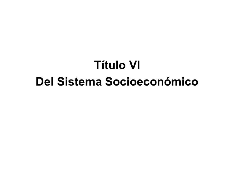 Título VI Del Sistema Socioeconómico