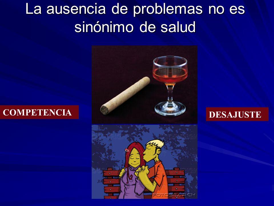 La ausencia de problemas no es sinónimo de salud COMPETENCIA DESAJUSTE