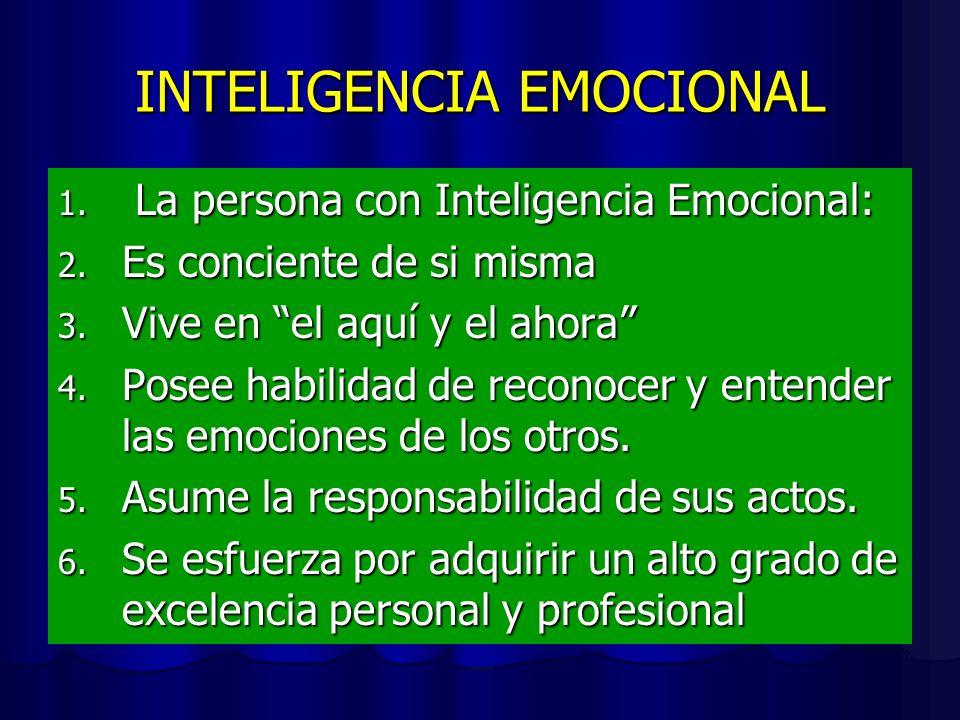 Componentes de la inteligencia emocional 1. Conocer las propias emociones: La conciencia de uno mismo (el reconocer un sentimiento mientas ocurre) es