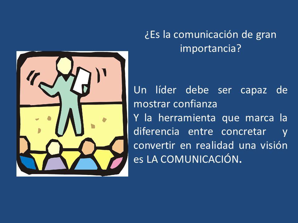 ¿Es la comunicación de gran importancia? Un líder debe ser capaz de mostrar confianza Y la herramienta que marca la diferencia entre concretar y conve