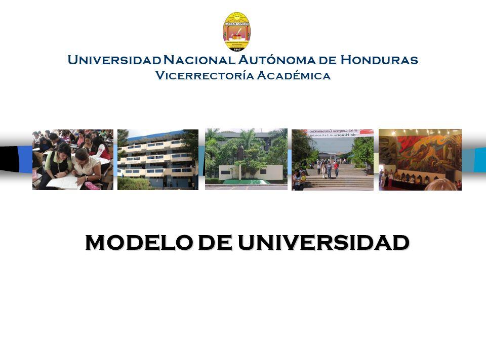 Universidad Nacional Autónoma de Honduras Vicerrectoría Académica MODELO DE UNIVERSIDAD