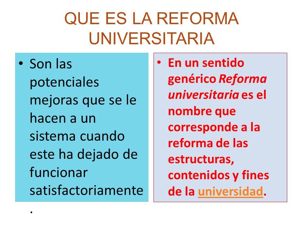 ¿FRACASÓ LA REFORMA UNIVERSITARIA.