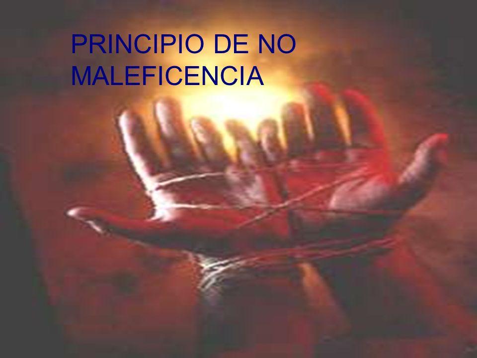 PRINCIPIO DE NO MALEFICENCIA