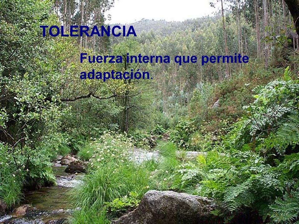 TOLERANCIA Fuerza interna que permite adaptación.