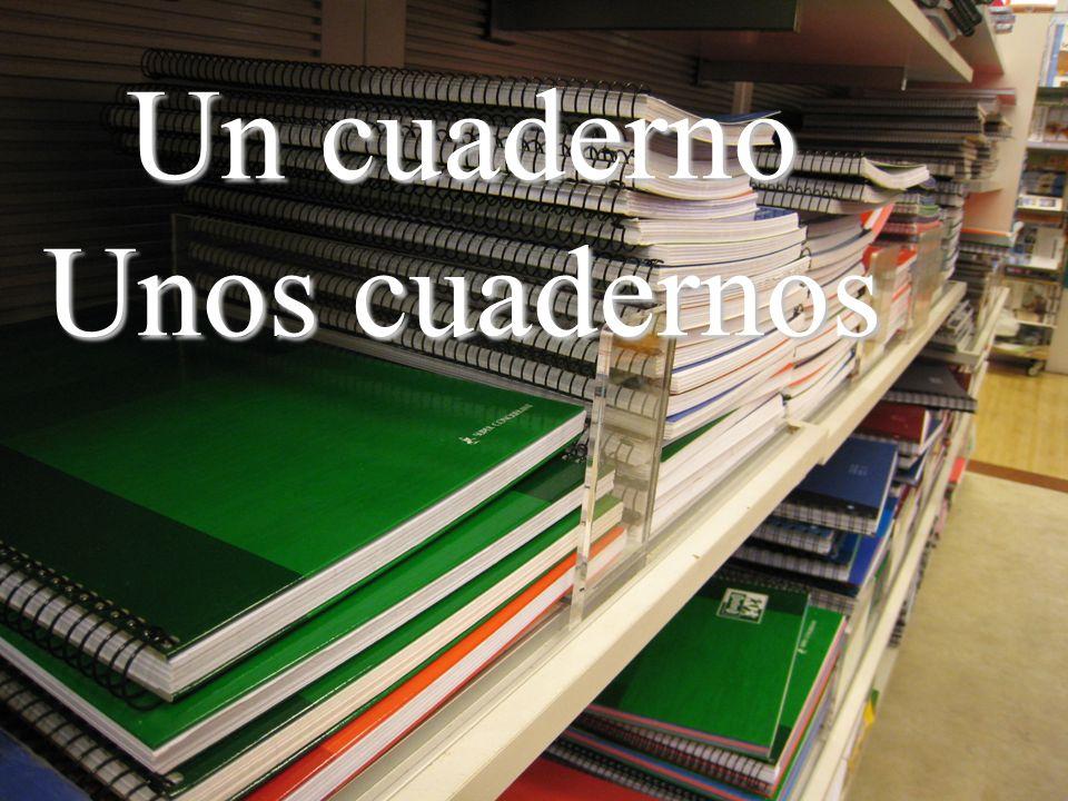 Un cuaderno Unos cuadernos
