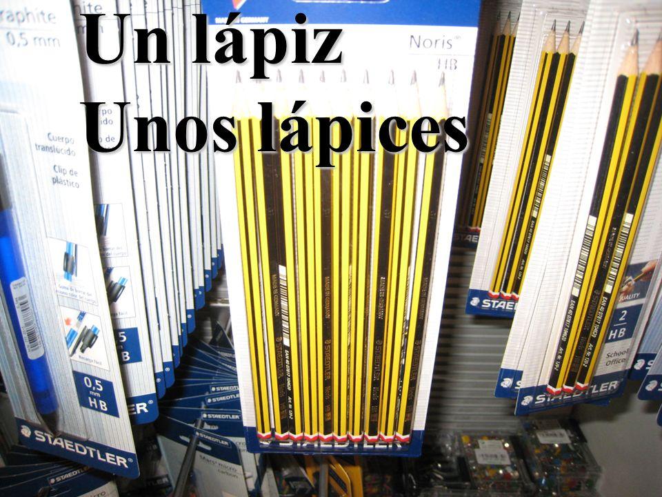 Un lápiz Unos lápices