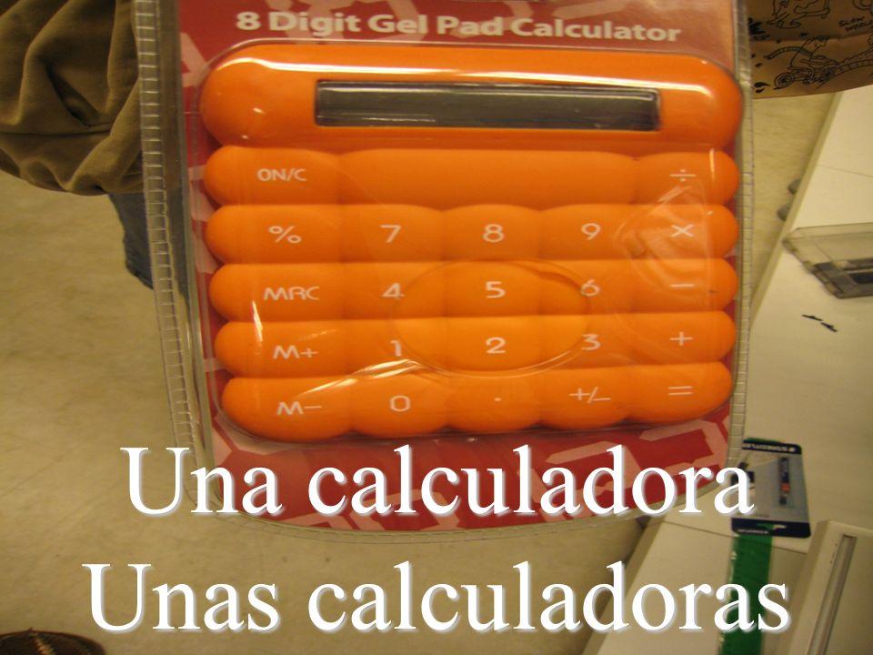 Una calculadora Unas calculadoras