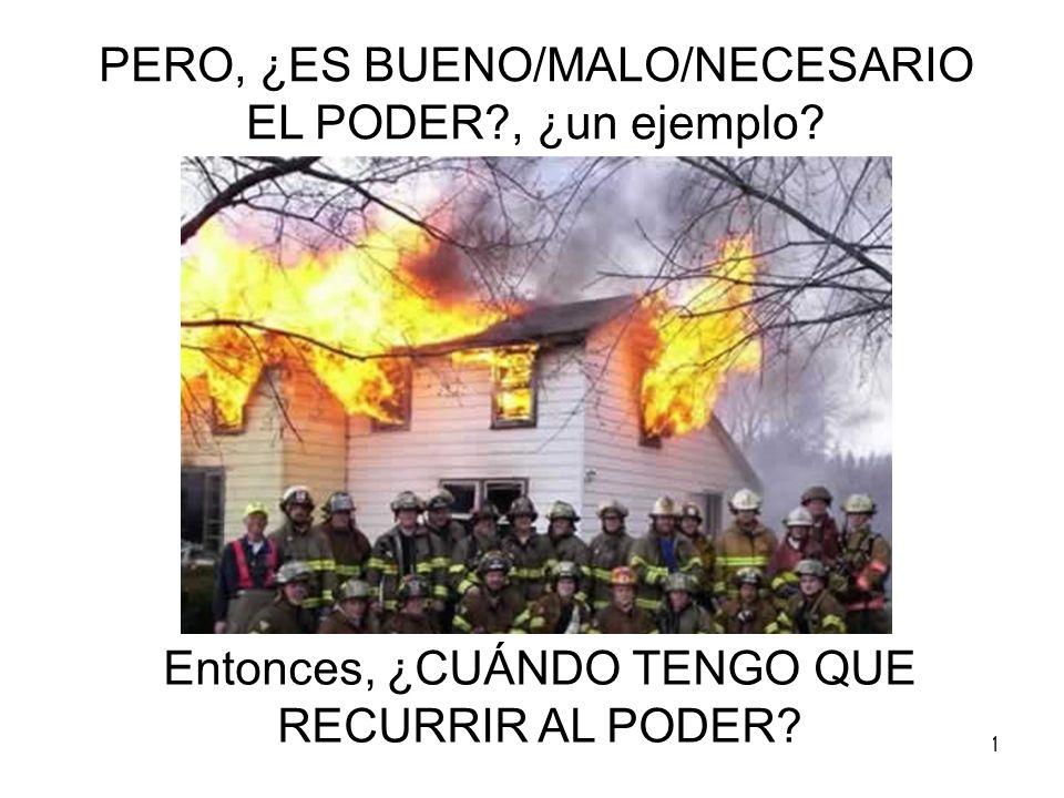 11 PERO, ¿ES BUENO/MALO/NECESARIO EL PODER?, ¿un ejemplo? Entonces, ¿CUÁNDO TENGO QUE RECURRIR AL PODER?