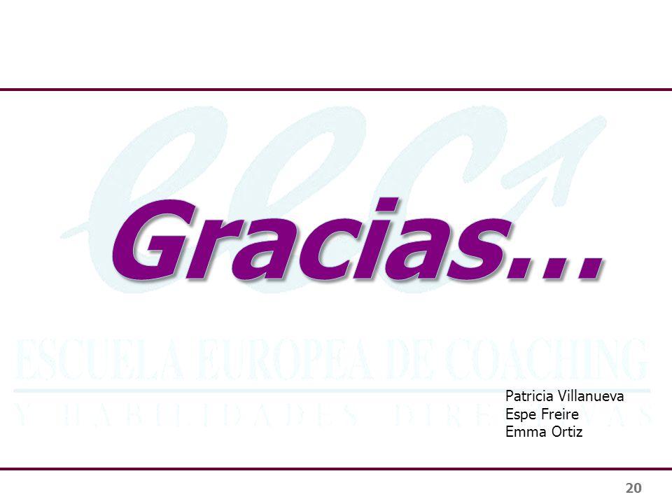 20 Patricia Villanueva Espe Freire Emma Ortiz