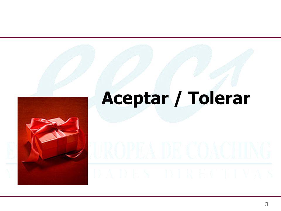 3 Aceptar / Tolerar