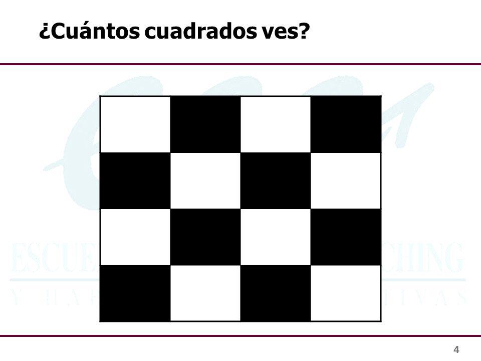 4 ¿Cuántos cuadrados ves?