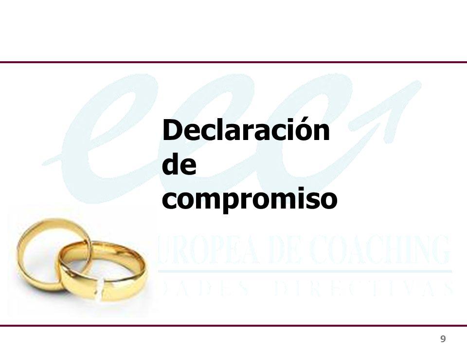 9 Declaración de compromiso