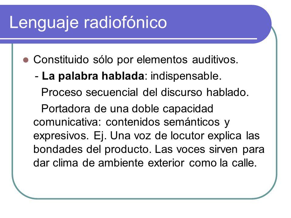 Lenguaje radiofónico - Los efectos sonoros: sistema acústico que reproduce el desarrollo sonoro de un acontecimiento.